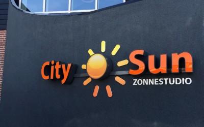City Sun doosletters met LED lichtreclame