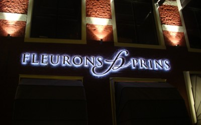 Fleurons Prins LED letters lichtreclame