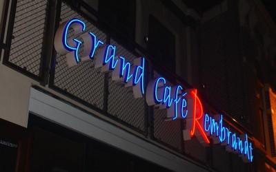 Grand cafe Rembrandt neon W&O lichtreclame