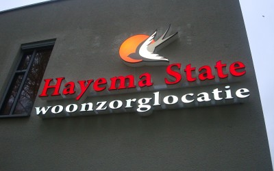 Hayema state LED W&O lichtreclame