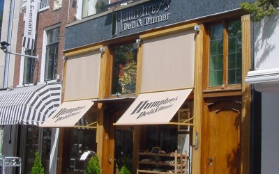 Humphrey's W&O lichtreclame zonwering freesletters