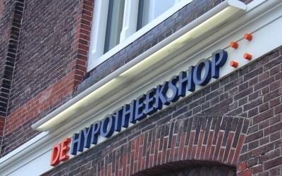 Hypotheekshop W&O lichtreclame - doosletters
