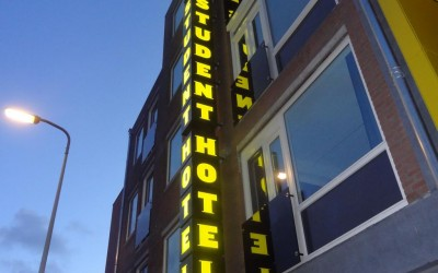 The student hotel LED sign lichtreclame