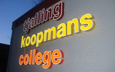 Tjalling koopmans college LED W&O lichtreclame