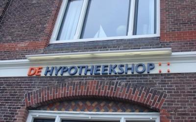 doosletters Hypotheekshop W&O lichtreclame