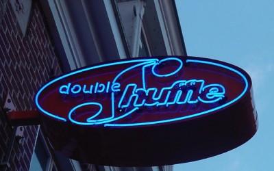 double shuffel neon uithangbord